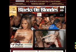 BlacksOnBlonde has a lot of porn videos with blonde girls and black men