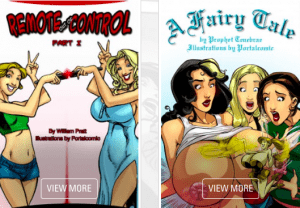 Most popular xxx premium website offering class A porn comics